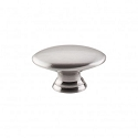 Top Knobs Nouveau Oval 1 1/2 Inch Cabinet Knob - Brushed Satin Nickel