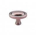 Top Knobs Somerset 1 1/4 Inch Oval Rope Knob - Antique Copper