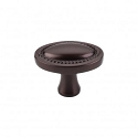 Top Knobs Oval Rope 1 1/4 Inch Cabinet Knob - Oil Rubbed Bronze