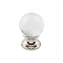 Top Knobs TK840PN 1 inch Clarity Clear Crystal Cabinet Knob - Polished Nickel