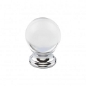 Top Knobs TK841PC 1 3/16 inch Clarity Clear Crystal Cabinet Knob - Polished Chrome