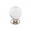 Top Knobs TK841PN 1 3/16 inch Clarity Clear Crystal Cabinet Knob - Polished Nickel