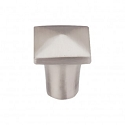 Top Knobs M2053 Aspen II Square Knob 3/4  Inch-Brushed Satin Nickel