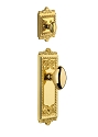 Grandeur Windsor Handleset with Eden Prairie Knob - (Interior Half Only, with Deadbolt)