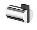 Smedbo Life Collection Single Towel Hook - Polished Chrome & Black ABS (Pair)