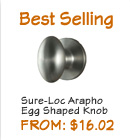 Arapaho Knobs - Discount Egg Shaped doorknobs