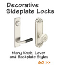 Emtek Decorative Sideplate Plate Locks