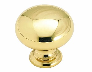 Allison ALBP1950-B -  1 1/4 Inch Solid Brass Cabinet Knob in Polished Brass