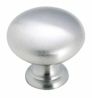 Amerock 1 1/4 Inch Hollow Brass Cabinet Knob - Brushed Chrome