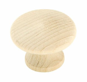 Amerock Allison Value - 1 1/4 Inch Unfinished Wood Cabinet Knob