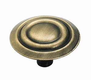 Allison AL875AB -  1 3/8 Inch Antique Brass Cabinet Knob