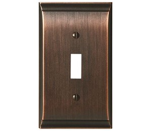 Amerock Candler Single Toggle Wall Plate - Oil-Rubbed Bronze