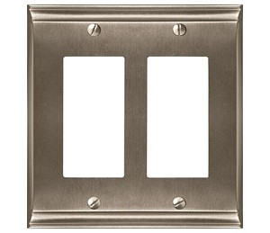 Amerock Candler Double Rocker Wall Plate - Satin Nickel