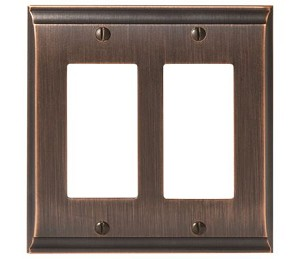Amerock Candler Double Rocker Wall Plate - Oil-Rubbed Bronze