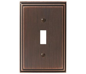 Amerock Mulholland Single Toggle Wall Plate - Oil-Rubbed Bronze