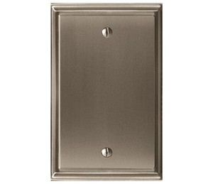 Amerock Mulholland Blank Wall Plate - Satin Nickel