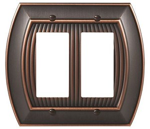Amerock Sea Grass Double Rocker Wall Plate - Oil-Rubbed Bronze