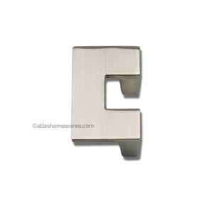 Atlas Homewares U-Turn Collection Single Small Pull in Brushed Nickel - 32mm CC