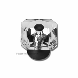 Atlas Homewares Crystal and Pave Collection Vintage Crystal Knob in Matte Black