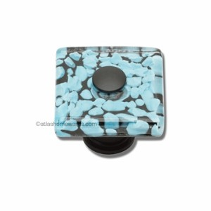 Atlas Homewares Dream Glass Collection: Marine Square Knob