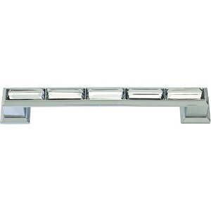 Atlas Homewares Legacy Crystal  Pull in Polished Chrome - 128mm CC