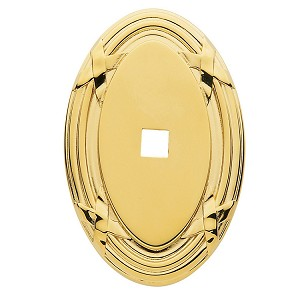 "Baldwin 4619 Oval Edinburgh Backplate - 1.5"" x 2"""