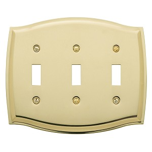 "Baldwin 4780 Colonial Triple Toggle Cover - 5.125"" X 6.5"""