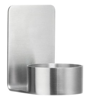 Beslagsboden Self-Adhesive Tea Light Candle Holder - Brushed Stainless Steel