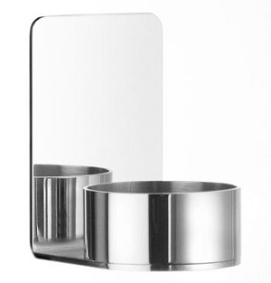 Beslagsboden Self-Adhesive Tea Light Candle Holder - Polished Stainless Steel