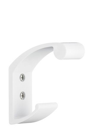 Beslagsboden Design ALU Colour Coat and Hat Hook - White Brushed Aluminum