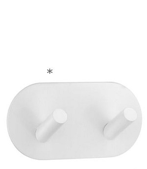 Beslagsboden Design Self-Adhesive Double Hook - White