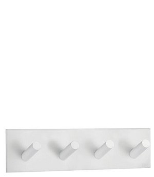 Beslagsboden Design Steel Square Self-Adhesive Quadruple Hook - White