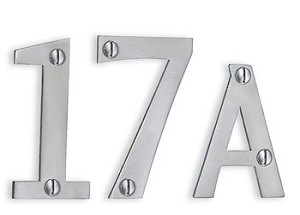 Beslagsboden Stainless Steel House Numbers and Letters - Brushed Stainless Steel