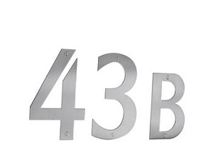 Beslagsboden Stainless Steel Mailbox Numbers and Letters - Brushed Stainless Steel