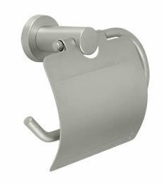 Deltana Nobe Series Single Post Toilet Paper Holder with Cover