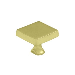 Deltana Solid Brass Square Knob for Heavy Duty Bolt