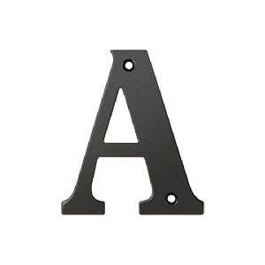 Deltana Solid Brass 4 Inch Residential Letter A