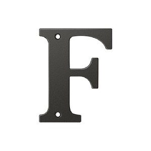 Deltana Solid Brass 4 Inch Residential Letter F