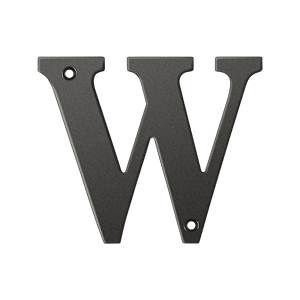 Deltana Solid Brass 4 Inch Residential Letter W