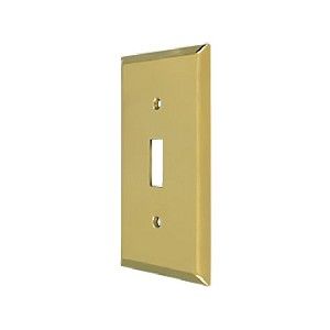 Deltana Solid Brass Single Standard Switch Plate