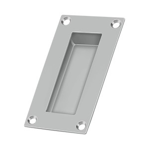 Deltana Solid Brass Stainless Steel Rectangular 4 x 1 x 1/2 Inch Flush Pull
