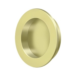 Deltana Solid Brass 2 3/8 Inch Diameter Round Heavy Duty Flush Pull