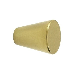 Deltana Solid Brass 1 1/8 Inch Cone Cabinet Knob