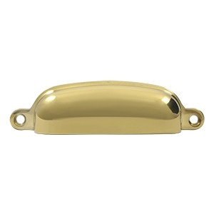 Deltana Solid Brass 4 Inch Exposed Shell Pull