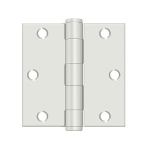 Deltana 3 1/2 x 3 1/2 Inch Stainless Steel Square Corner HD Hinge - Pair