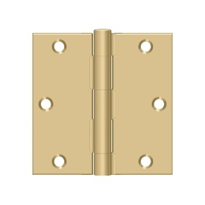Deltana 3 1/2 x 3 1/2 Inch Stainless Steel Square Corner Hinge - Pair