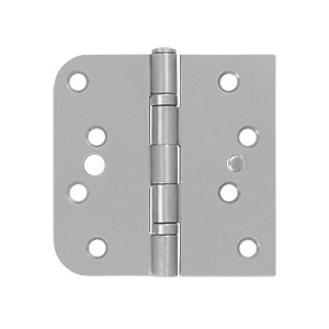 Deltana 4 x 4 Inch Stainless Steel 5/8 Inch Radius x Square Corner Ball Bearing Security Hinge - Pair