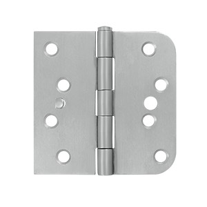 Deltana 4 x 4 Inch Stainless Steel 5/8 Inch Radius x Square Corner Security Hinge - Pair