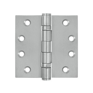 Deltana 4 x 4 Inch Stainless Steel Square Corner 2 Ball Bearing Hinge - Pair