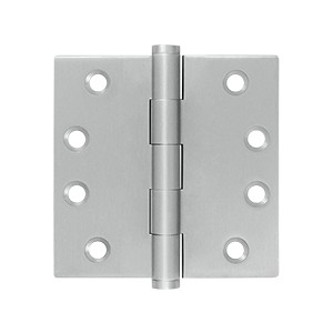 Deltana 4 x 4 Inch Stainless Steel Square Corner Residential Hinge - Pair